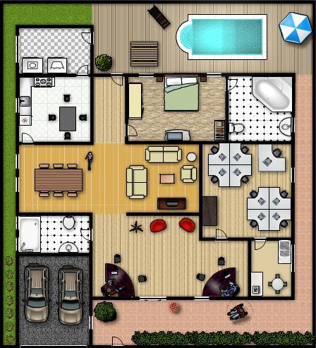 Casa modelo for Modelo de casa de 4x6